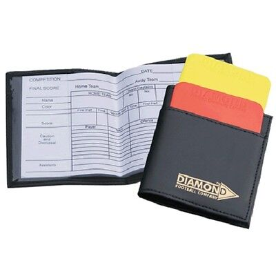Referee Wallet by Diamond Football - with Match Cards & Plastic Red/Yellow Cards
