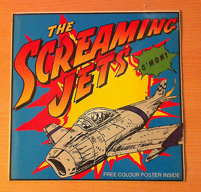 "THE SCREAMING JETS   "" C'Mon "" - Vinyl maxi 12"" + Poster -  rArt 612- 1991 UK"