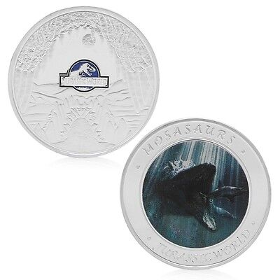 Jurassic World Park Silvery Commemorative Challenge Coin Token Collection Gift