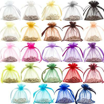 Premium Organza Gift Pouches Bags Jewellery Wedding Favour Bag 15x24cm