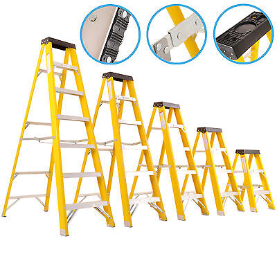 Heavy Duty 30000V Electricians Trade Commercial Fibre Glass Safety Access Ladder