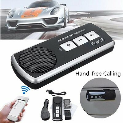 Car Bluetooth Speakerphone USB Multipoint Speaker for Cell Phone Hand free Set