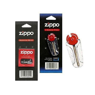 Zippo Lighter Flints And Wicks And Set 100% Genuine Original Free Uk Postage