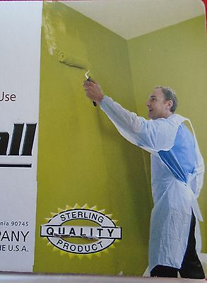 Disposable Plastic Painters Coverall One Size Fits All  (Most)- Paint Protection