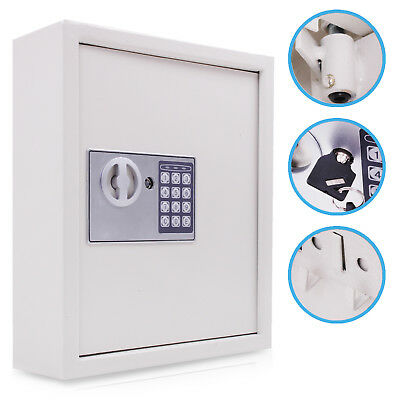 Heavy Duty Electric 48 Key Hotel Home Office Security Deposit Safe Storage Box