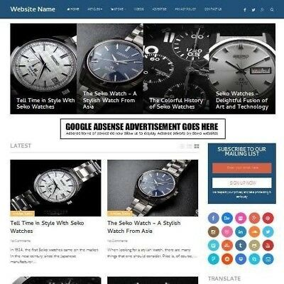 Established Watches Store Online Business Website For Sale Mobile Friendly