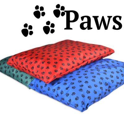 Paws– Waterproof Dog Beds. Hard Wearing Large & Medium Bed Soft Holofiber Pillow