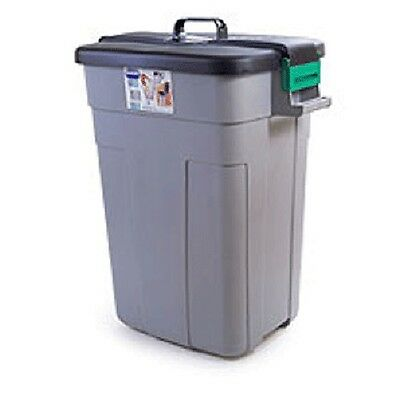 Rectangular ADDIS OUTDOOR DUSTBIN with Lockable Lid, 90 Litre, Garden Waste, NEW