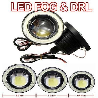 2 x 7000K COB LED Ring DRL Angel Eyes Fog Lamps 3 x Sizes Available VW Passat