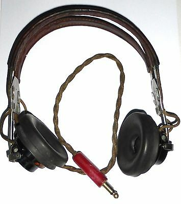 Headset HS33 with two ANB-H1 period USAF WWII red plug HB7 tested 100% OK