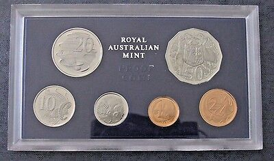 1971 Royal Australian Mint 6 Coin Proof Set in Plastic Case Australia Set