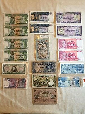 18 pc Worldwide Collection Russia Canada OLD BANKNOTE CURRENCY COLLECTION LOT
