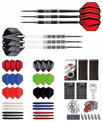 ULTIMATE DARTS SET - Red Dragon™ Dart, Stems, Flights, Case, 21g & 23g