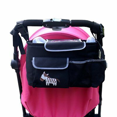 Car Buggy Stroller Organizer Bag Baby Jogger Accessories with Deep Drink Holders