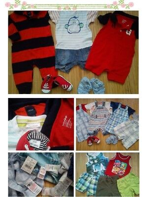 69x SUMMER NEW USED BUNDLE OUTFITS BABY BOY 3/6 M 6/9 PHOTOS IN DESCRIPTION(8)