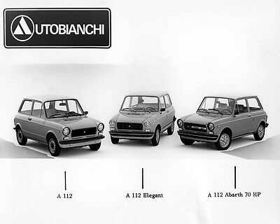 1976 Autobianchi A 112 & A 112 Elegant & A 112 Abarth  Factory Photo ua9259