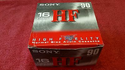 12 SONY High Fidelity Normal Bias Audio Cassette Tape 90 Minutes HF Sealed