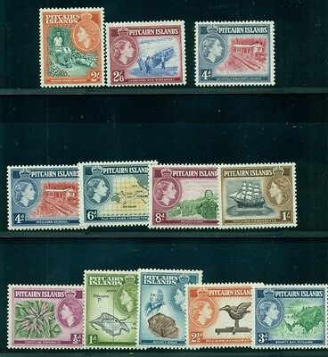 "PITCAIRN ISLAND #20-31 Complete set, incl. ""School Teachers House"" NH"