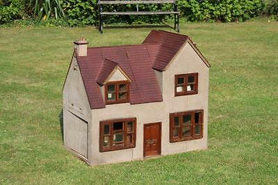 Antique Large English Dolls House circa 1930 Wooden Framed Original Very RARE