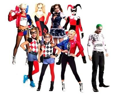 Official Suicide Squad HARLEY QUINN Fancy Dress Costume Ladies Girls TV Film Kit