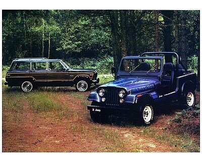 1983 Jeep Wagoneer Limited & CJ7 Renegade Factory Photo ca7659