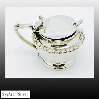 SILVER PLATED Mustard Pot HUGE Heavy 208g SILVER PLATE MUSTARD POT