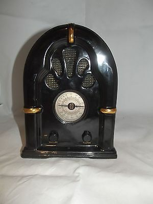 Ceramic Battery Operated Radio (non-working, parts only) steampunk