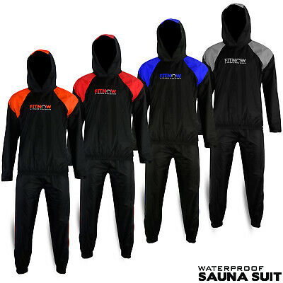 Sauna Suit Heavy Duty Sweat Suit Exercise Gym Suit Fitness Weight Loss with Hood
