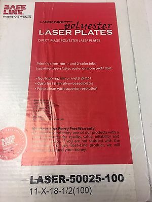 """Polyester Plates / Laser Plates 11"""" x 18 1/2"""" 10000 Impressions Double sided CTP"""