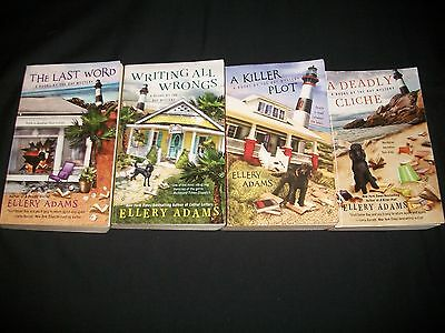 Lot of 4 Ellery Adams books, Books by the Bay Mysteries