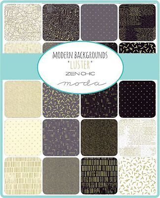 Quilting Fabric Moda Charm Pack - Modern Background Luster - Zen Chic