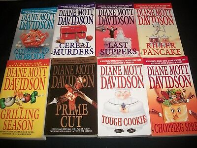 Lot of 13 Diane Mott Davidson books, Goldy Schulz Mysteries