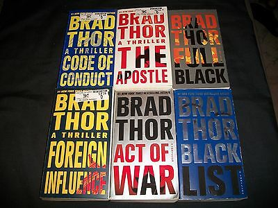 Lot of 9 Brad Thor books, Action/Adventure
