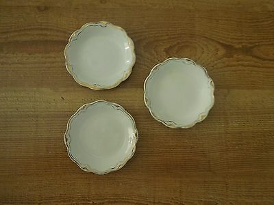 THE IMPERIAL GRINDLEY  PORELAIN CHINA BUTTER PATS - SET OF THREE - Scalloped
