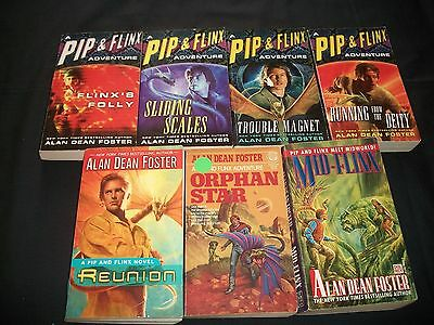 Lot of 7 Alan Dean Foster books, Pip & Flynx Adventures