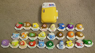 VTech ABC Food Fun Magnetic Fridge Refrigerator Alphabet Learning Toy COMPLETE