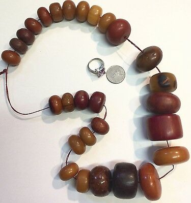 Beads African handmade Berber resin graduated LARGE Trade beads