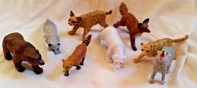 8 pc Asst. SCHLEICH Small Wild Animals (Foxes,Lynx,Cat,Wolf,Mongoose,Bears) excl