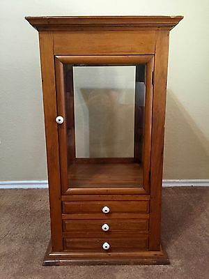 Antique Sewing Notions Display Cabinet, est. early 1900's--Make Offer