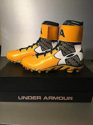 UNDER ARMOUR CLEATS GREEN BAY PACKERS EDDIE LACY Rummage Sale PLAYER ISSUED NEW