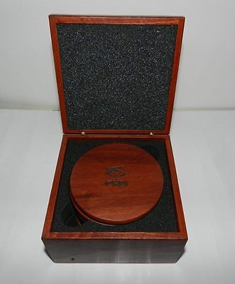CHU brand Rosewood box containing 6 rosewood coasters