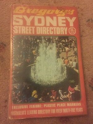 VINTAGE 38th EDITION, GREGORY'S SYDNEY STREET DIRECTORY 1973
