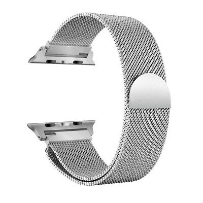 Durable Magnetic Mesh Milanese Loop Stainless Metal Band for Apple Watch 1/2/3/4