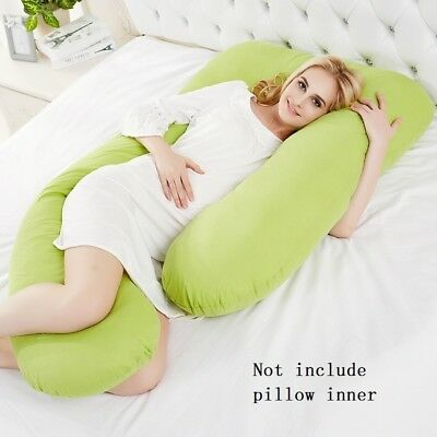 U Shape Pillow Pregnancy Pillow Cover Comfortable Support Sleeping Body Cushion