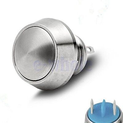 Waterproof 12V 12mm Stainless Steel Metal Momentary Push Button Power Switch K6