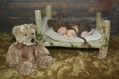 Newborn log bed photo prop baby photography prop wood bed hand made