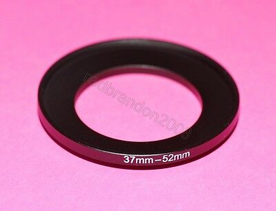 37mm to 52mm Step Up Adapter Ring Converter Holder Camera UV Filter Lens 37 52