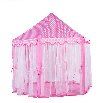 Girls Pink Princess Castle Cute Playhouse Children Kids Play Tent Outdoor Toys  sc 1 st  PicClick & Girls Pink Princess Castle Cute Playhouse Children Kids Play Tent ...