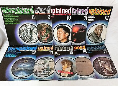 Unexplained Magazine. A Bundle of 10 Editions 8 to 17 From Early to Mid 80's