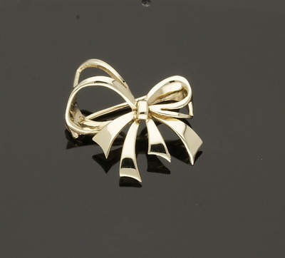 Vintage 1986 9Ct Gold Bow Brooch